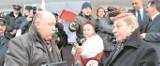 Wielki protest w Kościerzynie: Pikieta obrońców linii kolejowych, pracowników szpitala i muzeów