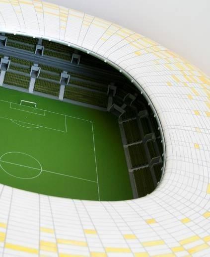Fragment korony PGE Arena w Gdańsku w miniaturze