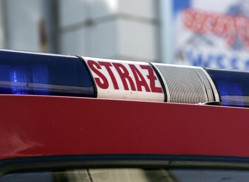 Na ul. Krętej spłonął samochód