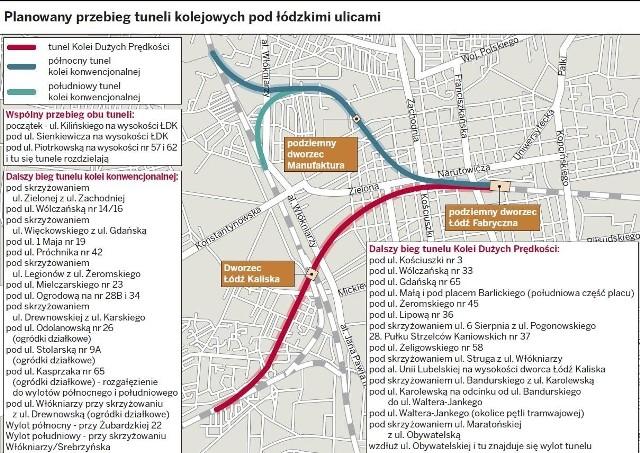 2,5 mld zł miałaby kosztować łącznie budowa dwóch tuneli KDP i ŁKA ze stacją Manufaktura.
