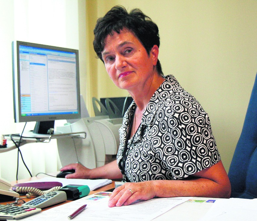 Płacimy składki na ubezpieczenie zdrowotne - mówi Stefania Skowrońska, główna księgowa rudzkiego Urzędu Skarbowego