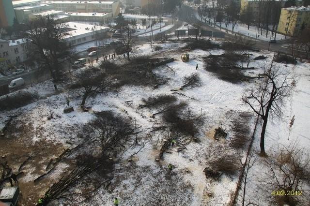 Skwer u zbiegu ulic Walecznych i Unickiej - 4 lutego 2012