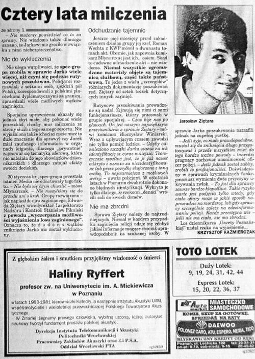 Śmiercią Jarosława Ziętary interesowały się tylko gazety. Policja szybko umorzyła śledztwo