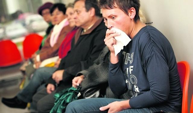 Sylwia Gembara wraz z innymi pacjentami czekała na przyjęcie przez lekarza w Dolmedzie
