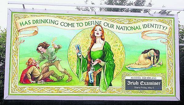 """""""Czy pijaństwo ma określać naszą narodową tożsamość?"""" - billboard społecznej kampanii antyalkoholowej"""