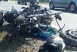 Wypadek na DK 15 w Gronowie pod Toruniem. Motocyklista uderzył w tył auta. Stracił prawo jazdy [ZDJĘCIA]