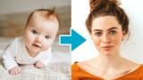 Od niemowlęcia do nastolatki: upływ czasu zaklęty w jednym filmie. Jak zmienia się twarz? Niezwykłe metamorfozy