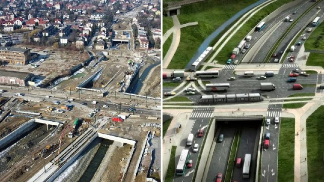 W ramach budowy Trasy Łagiewnickiej trwają m.in. intensywne prace w rejonie ul. Zakopiańskiej.