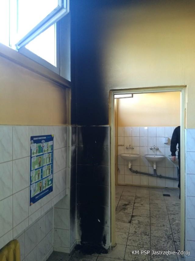 Jastrzębie: uczniowie podpalili pojemnik na papier w  Szkole Podstawowej nr 9