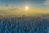 Beskid Sądecki. Niesamowite krajobrazy z wieży na Radziejowej, ośnieżone Tatry z Jaworzyny Krynickiej i zima w Wierchomli [ZDJĘCIA] 20.2.21
