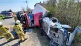 Wypadek w Skarszewku pod Kaliszem. Wyglądało to bardzo groźnie. ZDJĘCIA