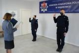 Wągrowiecka komenda policji ma dwóch nowych funkcjonariuszy. Policjanci złożyli ślubowanie