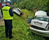 W wypadku pod Bytowem zderzyły się trzy samochody. Kierowca skody trafił do szpitala