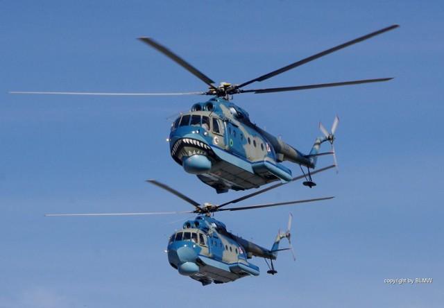 Podczas ćwiczeń śmigłowce Mi-14PŁ będą prowadzić działania zwalczania okrętów podwodnych