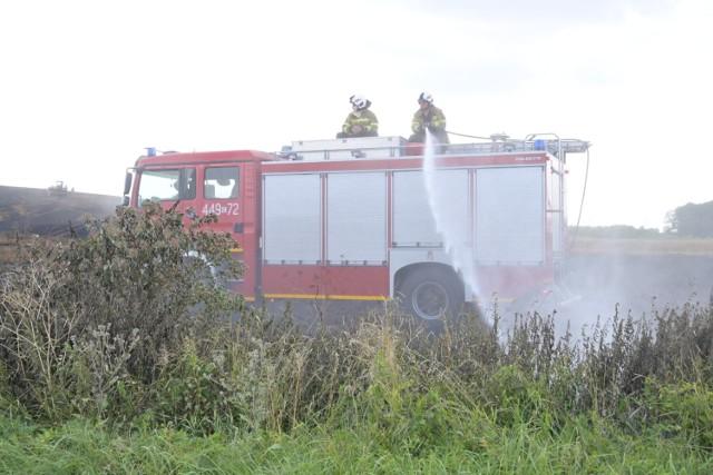 Około 6 hektarów zboża spłonęło pod Radzyniem Chełmińskim