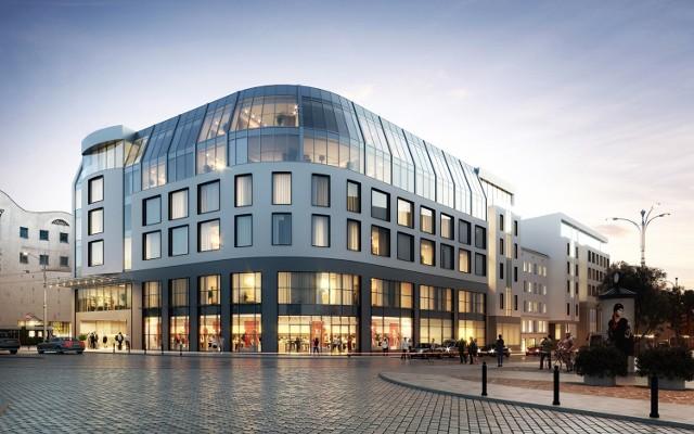 Tak ma wyglądać Kupiec Poznański po przebudowie ze skrzydłem hotelowym.