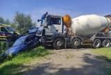 Wypadek w Rudce. 27-latka uderzyła w ciężarówkę