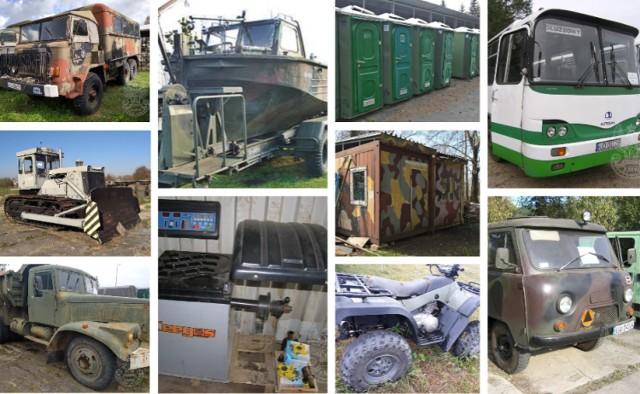 Zaprezentowaliśmy tylko część z rzeczy wystawionych w przetargu. Żeby dowiedzieć się o szczegółach i zobaczyć pełną listę wystawionych rzeczy, należy wejść na stronę Agencji Mienia Wojskowego [amw.com.pl].