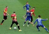 Zwycięstwo Niebieskich w meczu na szczycie - zobacz ZDJĘCIA. Ruch Chorzów - Ślęza Wrocław 3:2