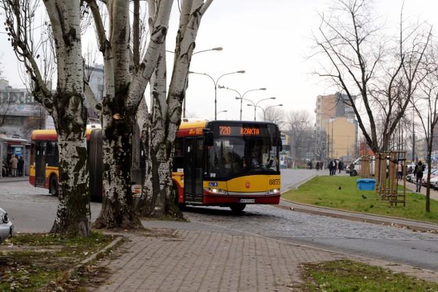pożar autobusu w ursusie