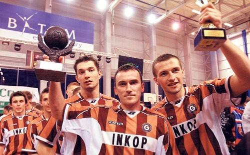 Piłkarze Garbarni fetują sukces w bytomskim turnieju