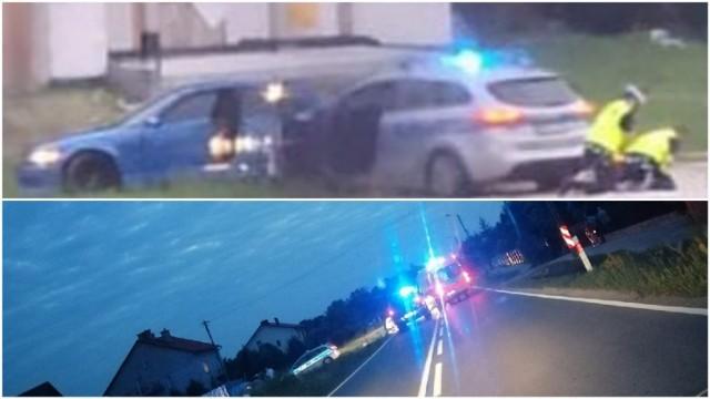 Pościg zakończył się na ul. Żabieńskiej. Kierowca BMW rzucił się wtedy na policjantów z siekierą