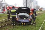 Ferrari za ponad milion rozbite na al. Mickiewicza. Kierowca po alkoholu! ZDJĘCIA