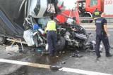 Wypadek na autostradzie A4 pod Wrocławiem. Kierowca zginął na miejscu [ZDJĘCIA]