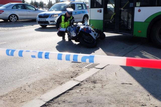 Wypadek z udziałem motocyklisty wydarzył się po południu w Wabczu (zdjęcie ilustracyjne).