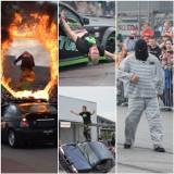 Kaskaderskie show w Świeciu. Ryk silników, pisk opon i ściany ognia. Zobacz zdjęcia
