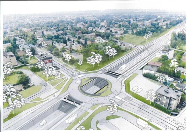 Tak po przebudowie ma wyglądać skrzyżowanie ulic Kościuszki i Armii Krajowej w Katowicach