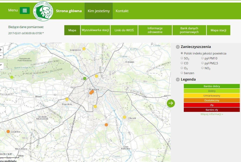 Smog W Warszawie Ustapil Ta Mapa Pokazuje Ze Jest Umiarkowanie