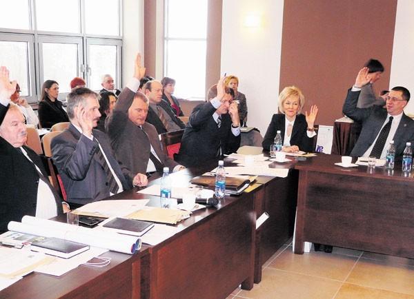 W radzie powiatu za przyjęciem budżetu zagłosowało 22 radnych, troje wstrzymało się od głosu