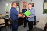 Nagrody dla policjantów z gminy Cedry Wielkie