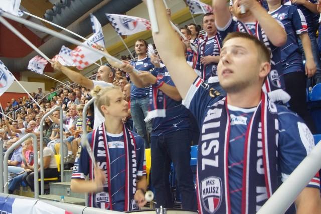 Kaliscy kibice podczas meczu MKS Kalisz - PGR VIVE Kielce