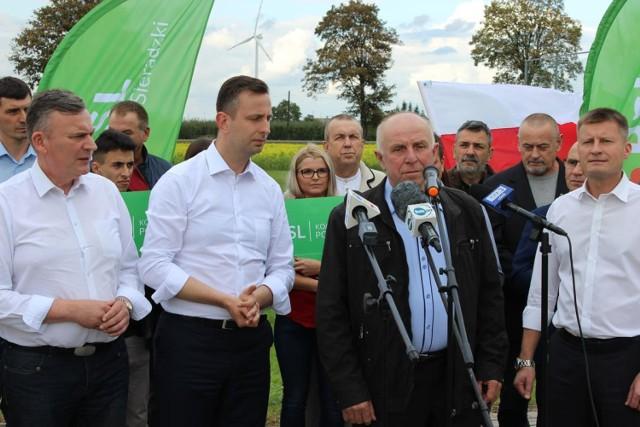 Lider Ludowców Władysław Kosiniak-Kamysz odwiedził powiat sieradzki