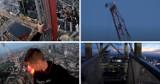 Varso Tower. Wspiął się na szczyt dźwigu budowy najwyższego wieżowca w UE. Przerażające nagranie
