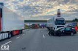 Przerażające nagranie z wypadku na autostradzie A1 w Wieszowie. Kierowca zginął