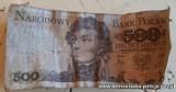 Lubań: Chciał zapłacić banknotem o nominale 500 zł, tyle że ten już dawno został wycofany z obiegu. W więzieniu może spędzić nawet 10 lat