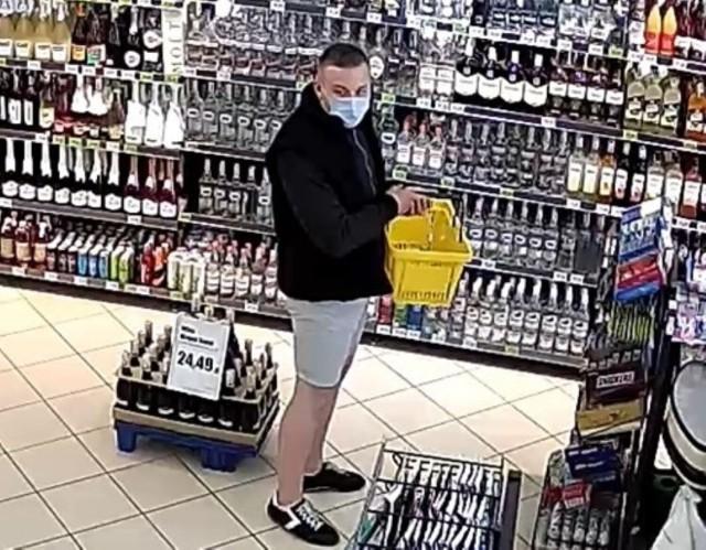 Wizerunek sprawcy został utrwalony na monitoringu sklepowym