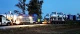 Nielegalny transport wielkogabarytowy zatrzymany w Głuchołazach. Rekordzista ważył ponad 120 ton. Przewoźnikowi grozi 108 tys. złotych kary!