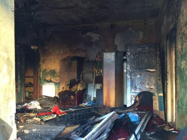 Pożar na 1 Maja w Łodzi