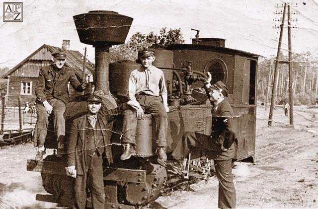 Lokomotywa zwierzynieckiej kolejki wąskotorowej 1943