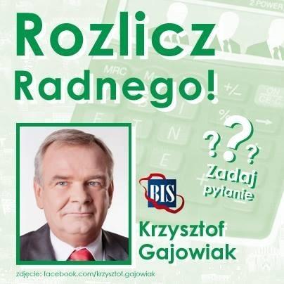 Krzysztof Gajowiak radny z Bytomia