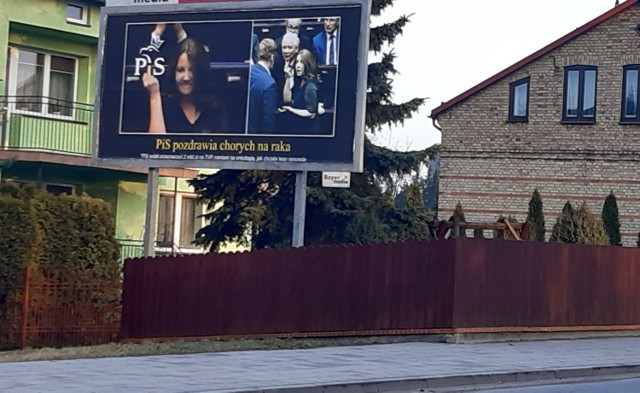 W Suwałkach billboard został umieszczony przy wjeździe do miasta