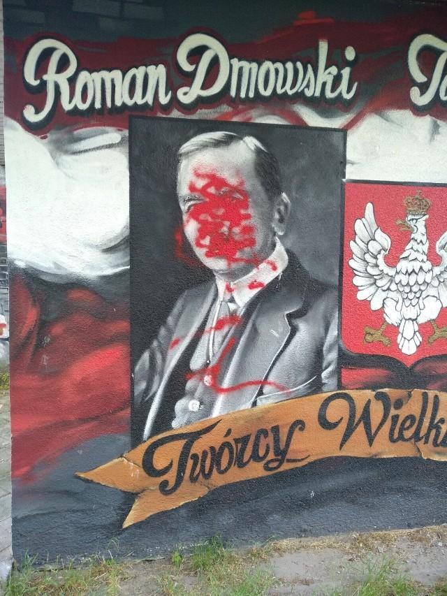 Wandale zniszczyli patriotyczny mural w Kaliszu. Jest nagroda za wskazanie sprawcy