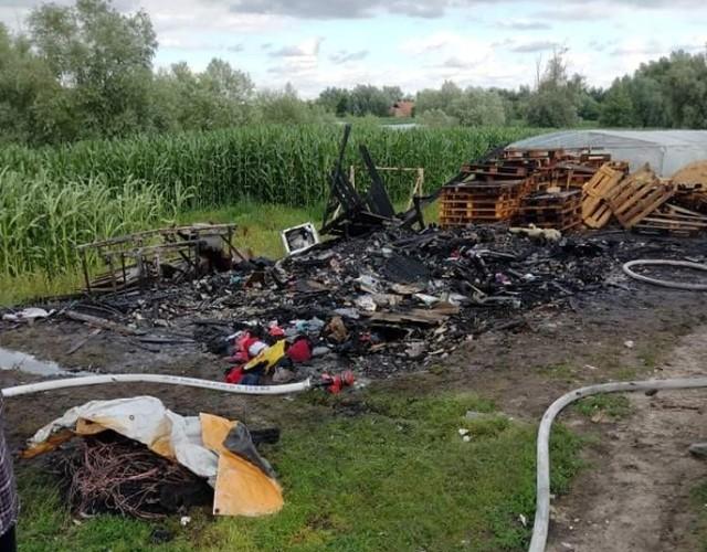 Przyczyną pożaru szopy w Trylu było prawdopodobnie podpalenie