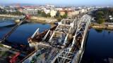 Kraków. Budują mosty i kładkę pieszo-rowerową łączącą Grzegórzki z Zabłociem [ZDJĘCIA]