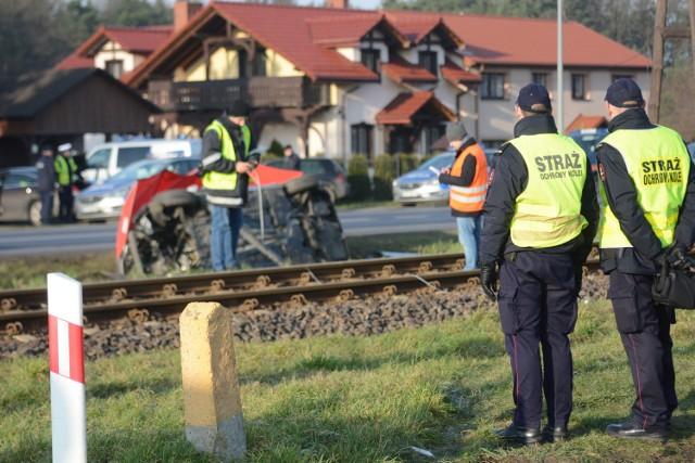 Janusz Dzięcioł zginął w wypadku w Białym Borze pod Grudziądzem [zdjęcia]