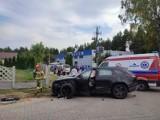 Zabagno koło Tczewa. Wypadek na drodze krajowej nr 22 - droga zablokowana